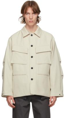 Kuro Taupe Wool Army Jacket