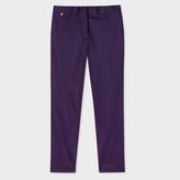 Paul Smith Women's Slim-Fit Navy Polka Dot Stretch-Cotton Trousers