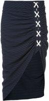 Veronica Beard Marlow Ruched skirt - women - Polyester/Viscose - 0