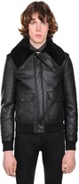 Saint Laurent Leather Aviator Jacket