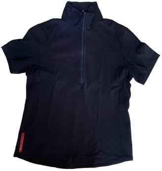 Prada Navy Cotton Polo shirts