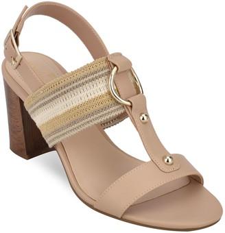 Bandolino Block Heel T-Strap City Sandals - Declan