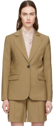 ALEXACHUNG Tan Wool Blazer