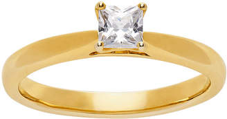 GROWN WITH LOVE Grown With Love Womens 1/2 CT. T.W. Lab Grown White Diamond 14K Gold Square Solitaire Engagement Ring