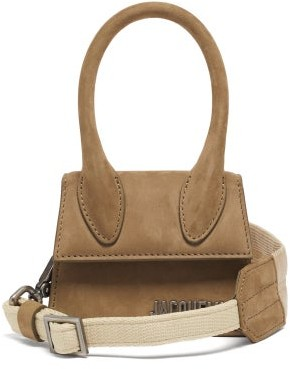 Jacquemus Chiquito Canvas-strap Leather Cross-body Bag - Khaki