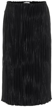 Jil Sander High-rise satin midi skirt