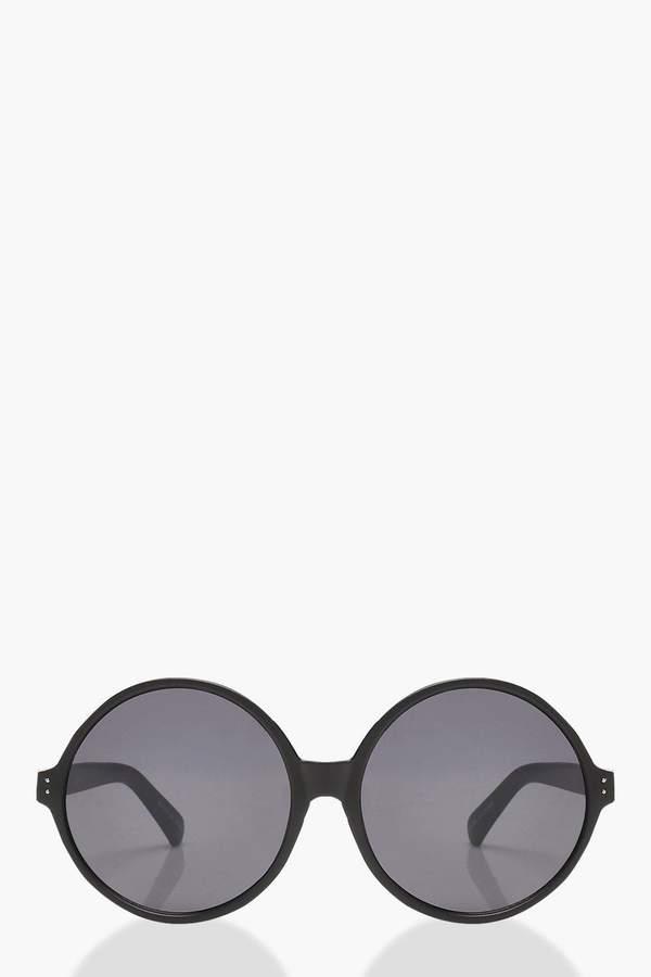 boohoo Oversized Matte Round Sunglasses