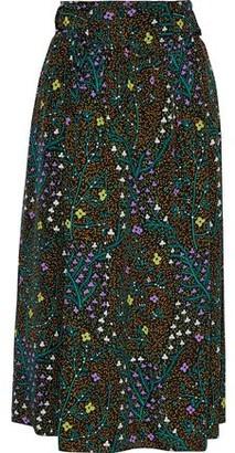 Joseph Betty Floral-print Silk Crepe De Chine Wrap Skirt