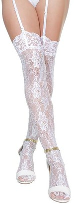 Coquette Lace Rhinestone Stockings