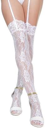 Coquette Plus Size Lace Rhinestone Stockings