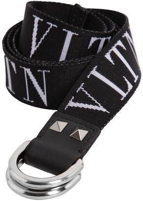 Valentino 30mm Vltn Logo Webbing Belt