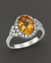 Bloomingdale's Citrine and Diamond Ring in 14K White Gold - 100% Exclusive