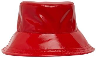 Borsalino Patent Faux Leather Bucket Hat