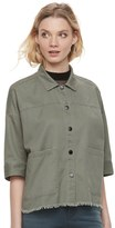 Rock & Republic Women's Embroidered Frayed Shirt