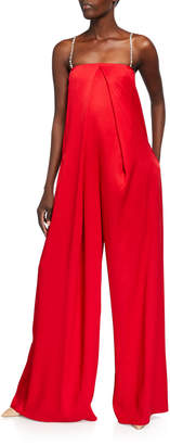 Hellessy Gustav Satin Wide-Leg Jumpsuit