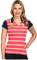 U.S. Polo Assn. Cotton Jersey Stripe Polo with Solid Short Sleeves
