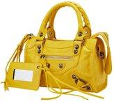 Melord Women Business Rivets Crossbody Shoulder Bag Hobo Tote Bag Soft Leather Top Handle Handbag Yellow