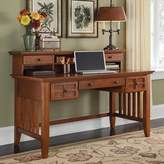 Home Styles Arts And Crafts Executive Desk With Hutch