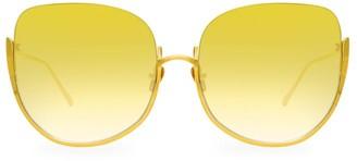 Linda Farrow 847 C4 Kennedy Oversized Sunglasses