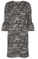 Dorothy Perkins Womens **Tall animal print swing dress- Black