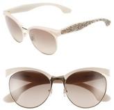 Miu Miu Women's 56Mm Pave Cat Eye Sunglasses - Beige Mix
