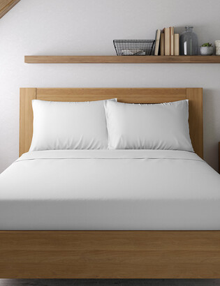 Marks and Spencer Egyptian Cotton 400 Thread Count Percale Standard Pillowcase