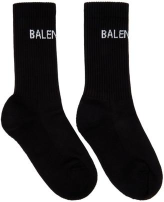 Balenciaga Black Logo Tennis Socks