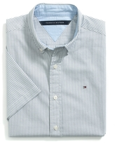 Tommy Hilfiger Custom Fit Short Sleeve Striped Oxford