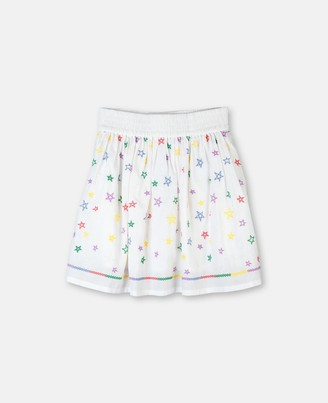 Stella McCartney Stars Embroidery Cotton Skirt, Women's