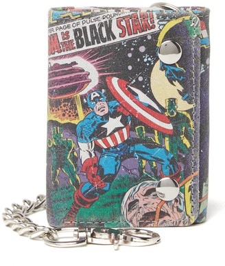 Marvel Captain America Leather Chain Trifold Wallet