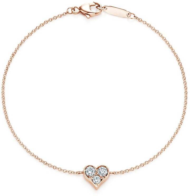 Tiffany & Co. HeartsTM bracelet in 18k rose gold with diamonds, small