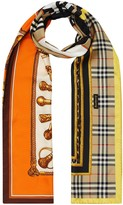 Burberry archival montage-print scarf