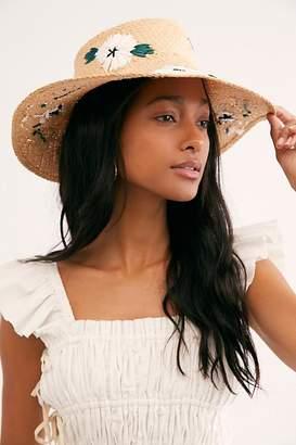 Nikki Beach Fleur Straw Visor