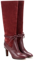 Chloé Suede And Leather Knee-high Boots