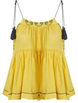 Topshop Yellow hanki hem camisole top