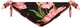 Dolce & Gabbana Tulip-print tie-side bikini briefs