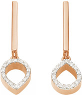 Monica Vinader Naida mini lotus 18ct rose gold vermeil and diamond earrings