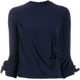 Rokh Draped Knot-Detail Top