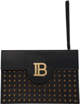 Balmain Black Studded Bpouch Clutch