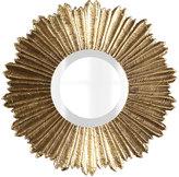 Horchow Soliel Small Gold Mirror