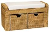 Household Essentials Wicker Storage Seat - Natural