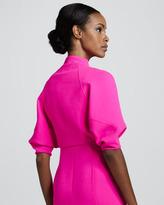Chado Ralph Rucci Cropped Kite Jacket, Pink