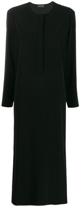 Gianluca Capannolo Side Split Long Sleeve Dress