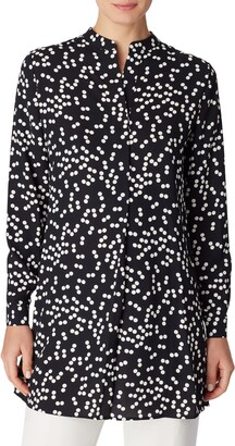 Anne Klein Dot Split Neck Tunic