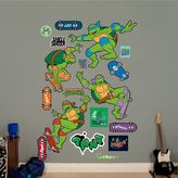 Fathead Teenage Mutant Ninja Turtles Classic Skateboarding Collection Wall Decals by