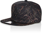 Marcelo Burlon County of Milan Men's Logo-Embroidered Abstract-Print Tech-Twill Baseball Cap-BLACK