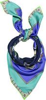 Cowboy printed silk scarf