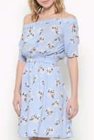 Esley Collection Floral Off Shoulder Dress