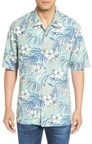 Tommy Bahama Men's Big & Tall 'Hibiscus De Cuba' Original Fit Silk Blend Camp Shirt