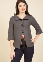 ModCloth Corner Coffee Shop Cardigan in Stone in L